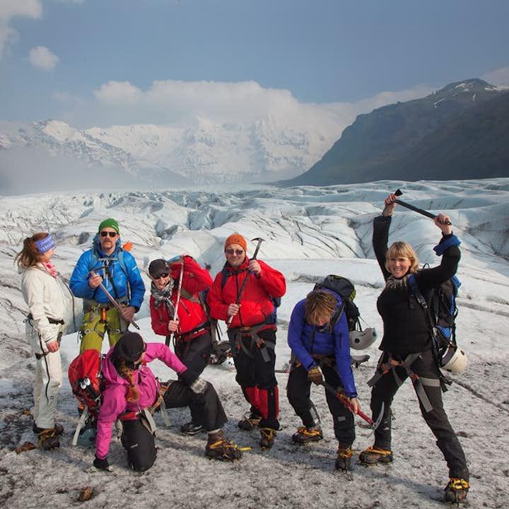 Upplevelse med blå is i Skaftafell   Låg svårighetsgrad