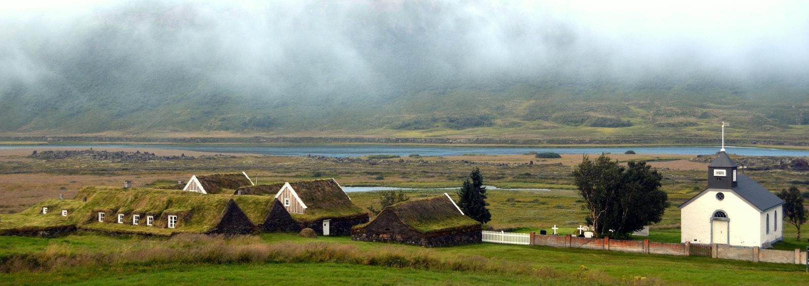 Þverá turf house in North-Iceland