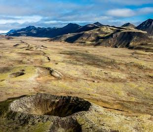 Tour en helicóptero por innumerables cráteres | Salida desde Reikiavik