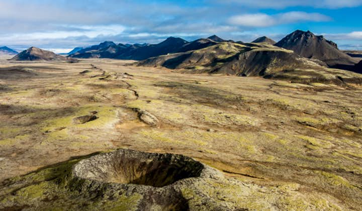Tour en helicóptero por innumerables cráteres   Salida desde Reikiavik