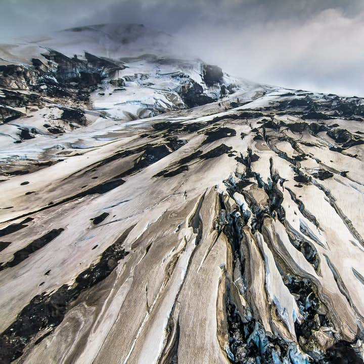 Seeing Iceland from above is a true privilege; looking down on the landscape, it will seem like a surreal painting.