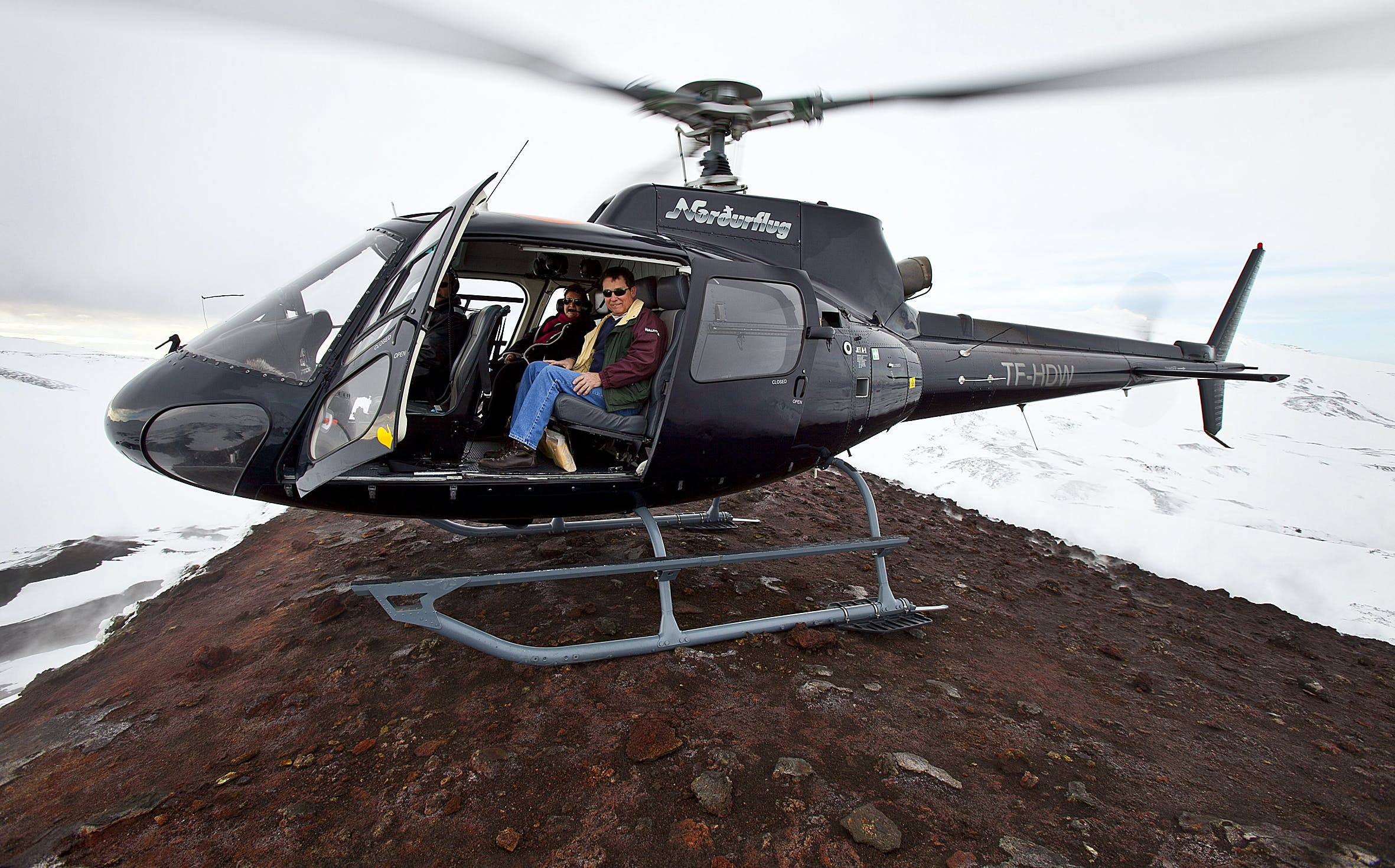 Seeing Iceland by helicopter is the best way to gain a unique perspective of the country's natural highlights.