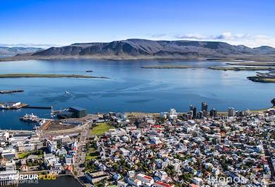 Survol de Reykjavik en hélicoptère