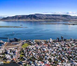 Helikopter-Rundflug über Reykjavik mit Landung