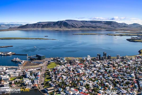 Reykjavik von oben zu sehen, ist ein Genuss, den Island-Besucher selten erleben.