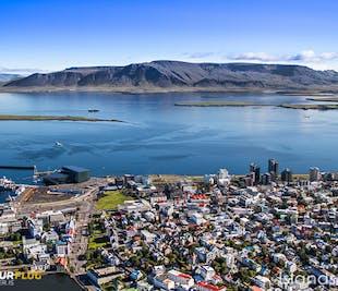 Survol de Reykjavik en hélicoptère   La capitale vue du ciel