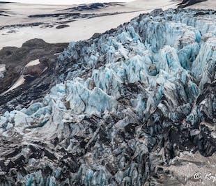 南海岸の火山と氷河を一望!ヘリコプター遊覧飛行ツアー