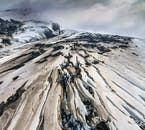 From above, Iceland's nature often resembles an abstract painting.