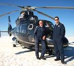 Atterrissage sur un glacier en hélicoptère