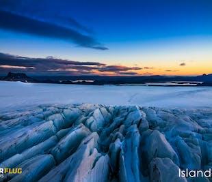 Lot helikopterem | Lądowanie na lodowcu
