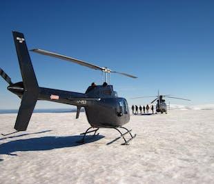 Vuelo en helicóptero con aterrizaje en un glaciar