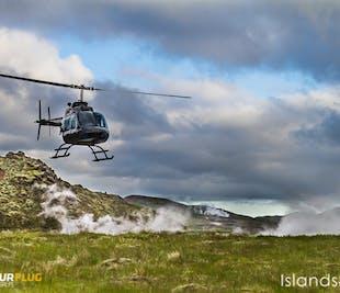 Tour en hélicoptère vers la source chaude d'Hengill