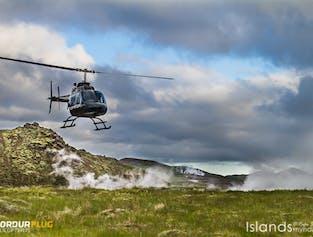 Helikopterem na obszar geotermalny