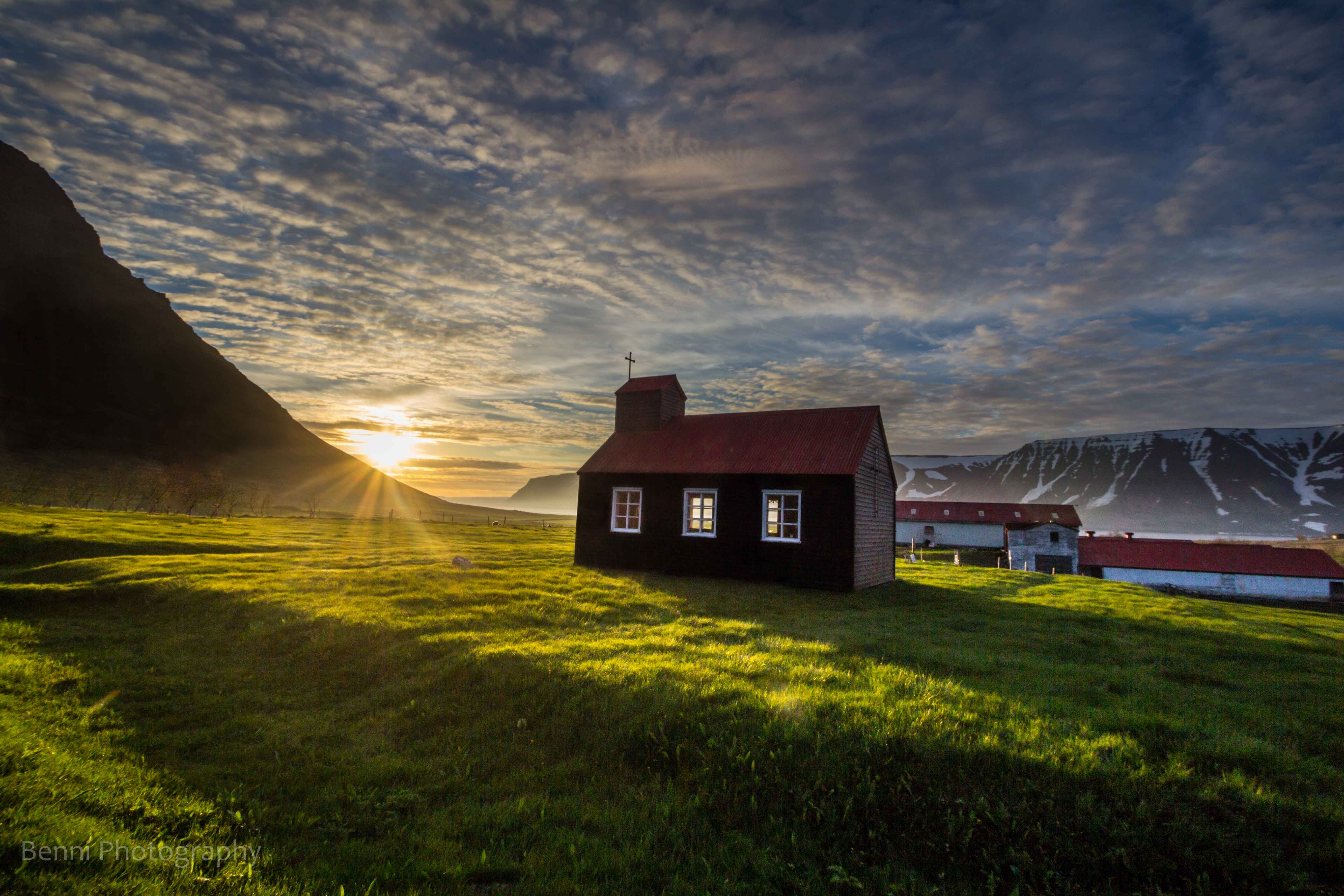 Church at my home, Westfjords in Iceland