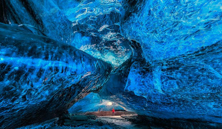 The ice caves in Vatnajökull glacier are composed of ice that is over 1000 years old.