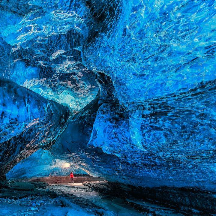 Viaje a tu aire de 3 días en invierno | Jökulsárlón y cueva de hielo del glaciar Vatnajökull