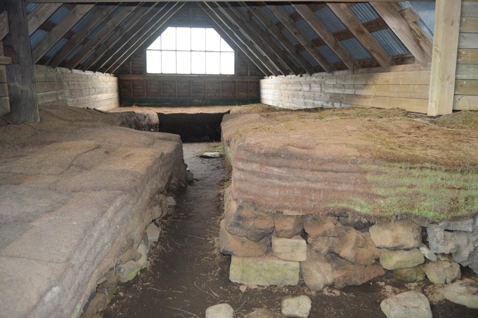 St 246 Ng Ruins Of A Real Viking Settlement Manor And The