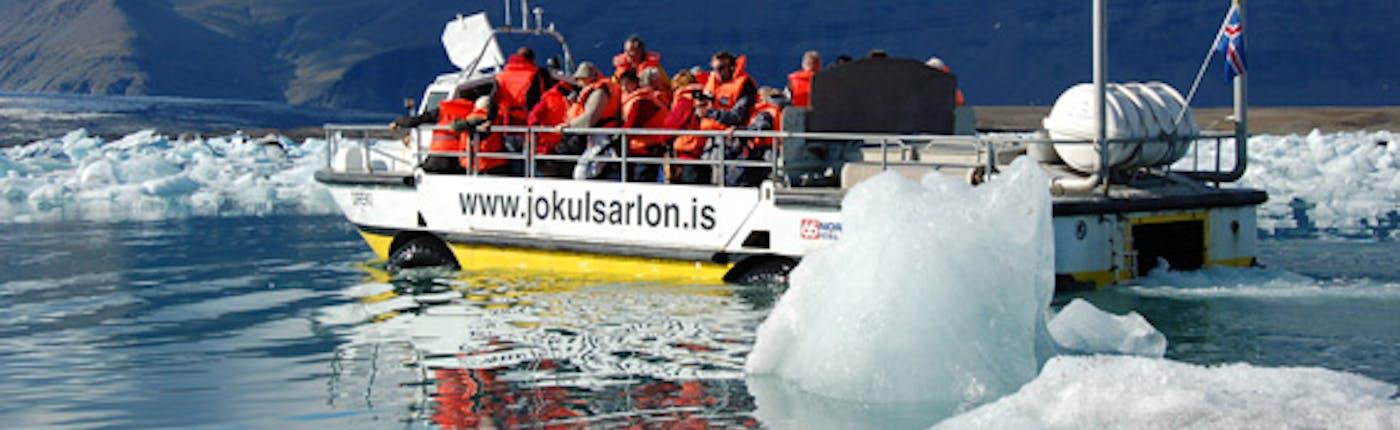 Bootstour auf der Jökulsárlón-Gletscherlagune