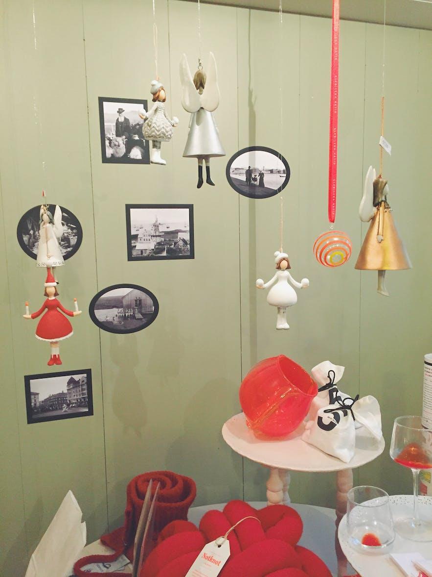 冰岛设计品店的圣诞装饰