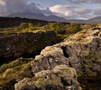 Mossy lava landscapes compose most of Þingvellir National Park on the Golden Circle.
