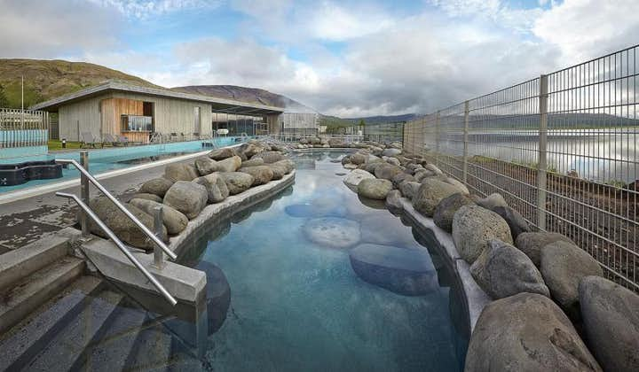 By the lake of Laugarvatn in South Iceland is the Fontana Geothermal Spa.