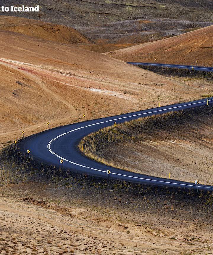 Roads in North Iceland around Lake Mývatn