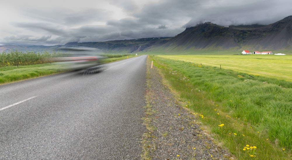 Driving through Iceland's Countryside
