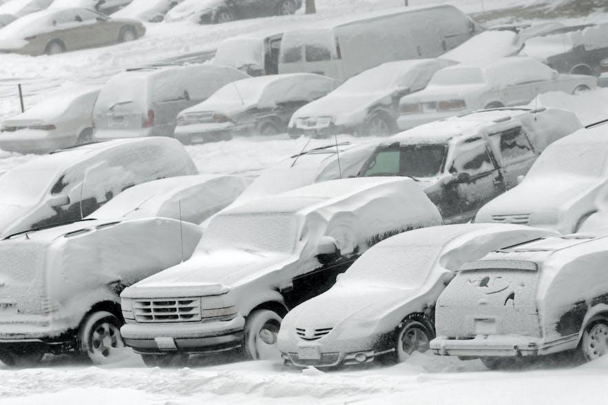 Météo typique en hiver en Islande