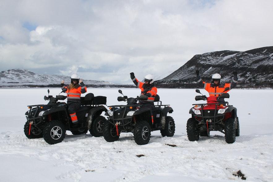 冰島的山地四驅摩托車體驗