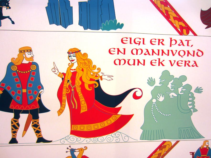 The Njálurefill Tapestry in South-Iceland and the Saga Centre - the Saga of Njáll