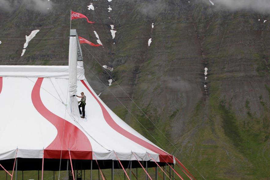 Jökla, the Icelandic Circus' tent