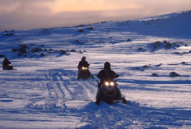 Snowmobile Tour on Myrdalsjokull Glacier | South Iceland