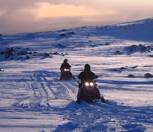 Skutery śnieżne na lodowcu Myrdalsjokull | Wycieczka z południowej Islandii