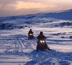 Snowmobile Tour on Mýrdalsjökull Glacier | South Iceland