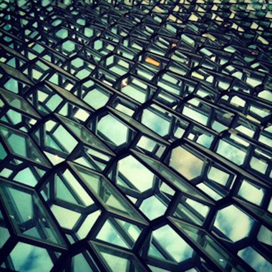 Harpa's glass façade