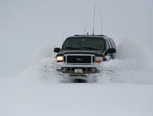 Golden circle super jeep with snowmobile option