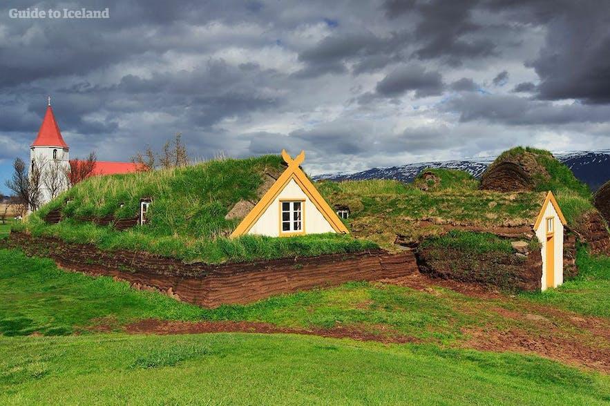 Old Icelandic turfhouse