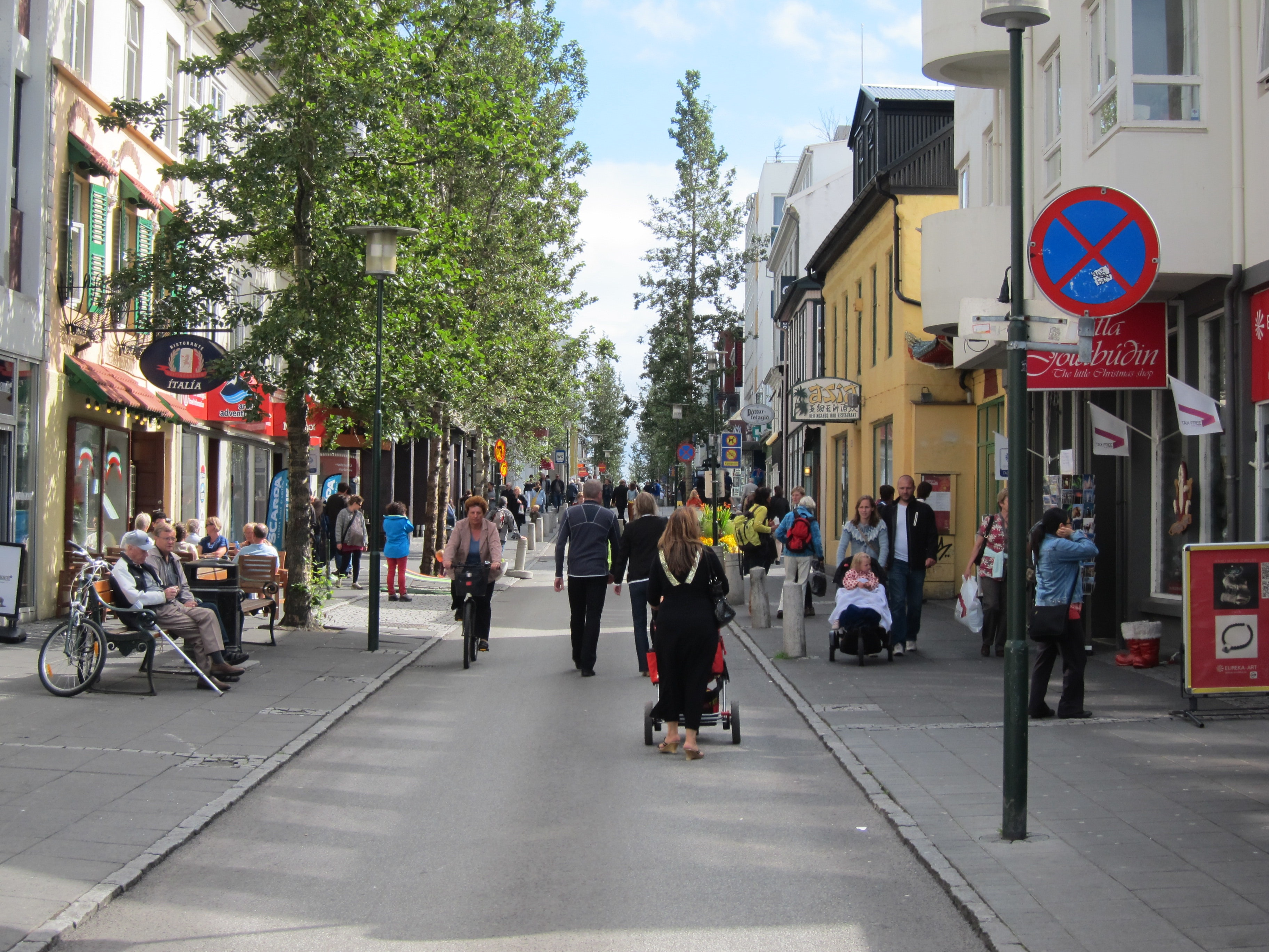Laugavegur is the main shopping and nightlife street in Reykjavík