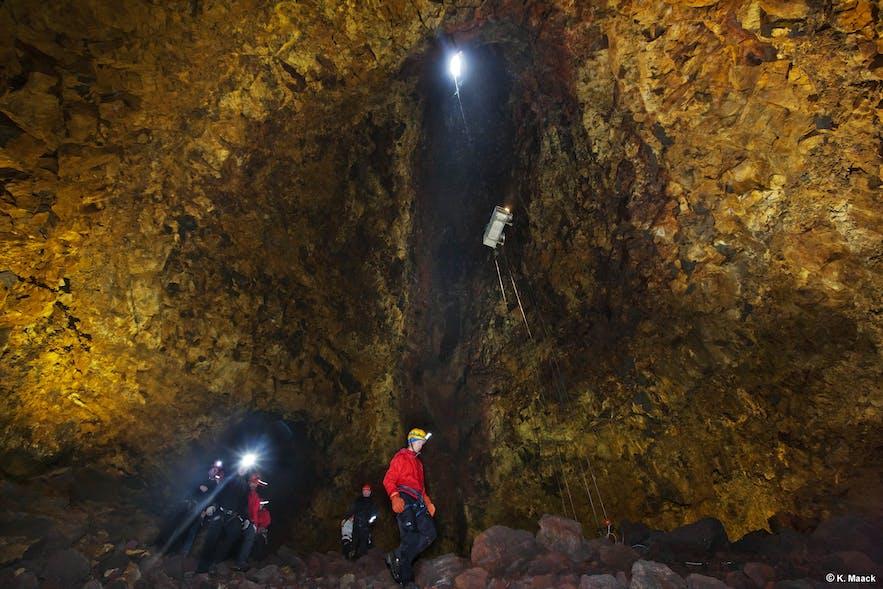 スリーフヌカギグル火山の内部の様子