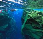 Snorkelling (suchy skafander) w szczelinie Silfra