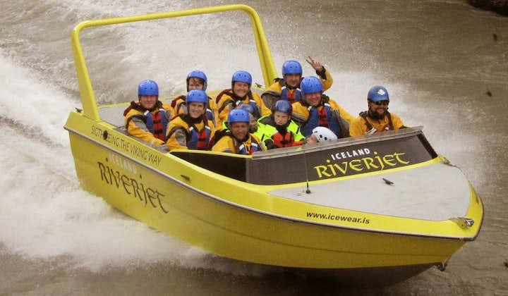 Seeing Hvítá River in a jet boat gives excitement to the Golden Circle sightseeing route in Iceland.