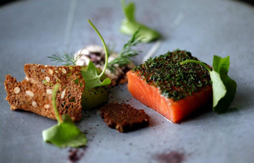 Icelandic ingredients at Texture restaurant in London