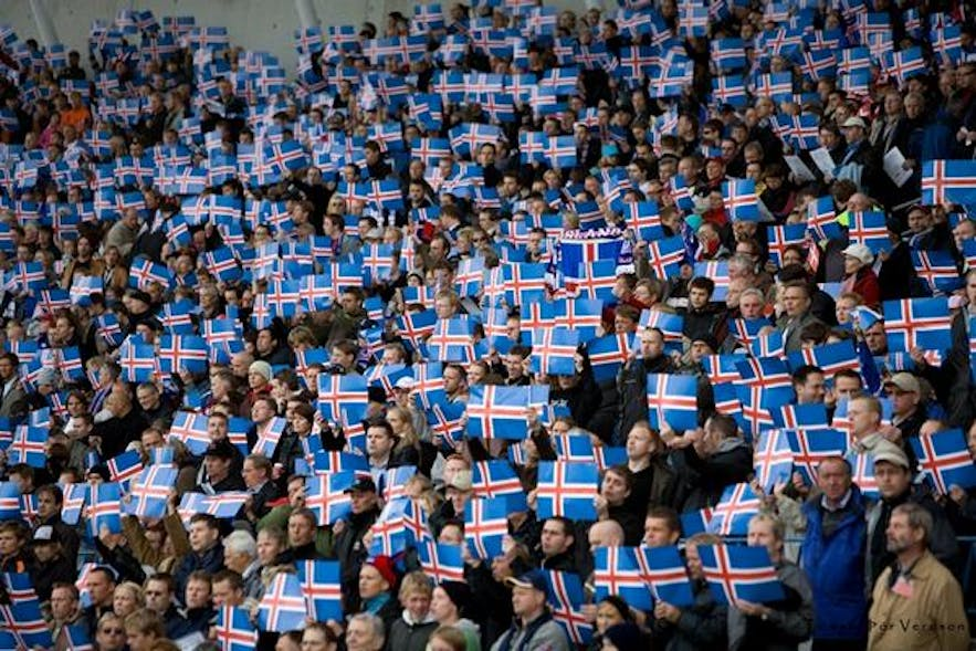 Everyone in Iceland could probably find one person they know/are related to in this photo