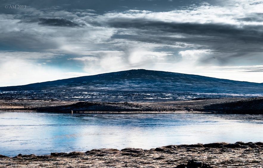 Skjaldbreiður山はアイスランドのゴールデンサークル観光ルートからも近い