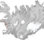 This map of Iceland shows you the route over the west and Snæfellsnes Peninsula that this helicopter tour will take.