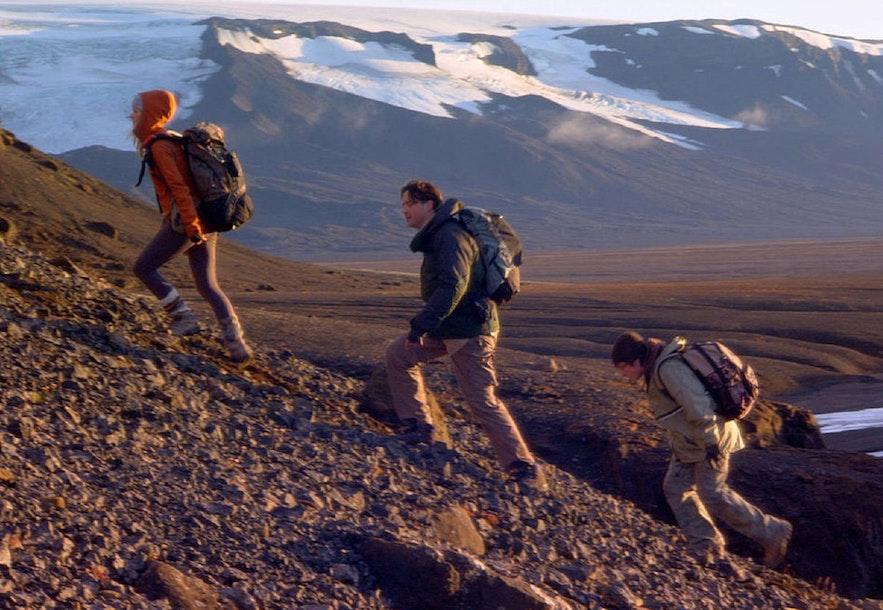 På vej op på gletsjeren Snæfellsjökull