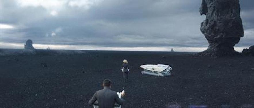 En scene filmet i Reynisfjara til Star Trek Into Darkness