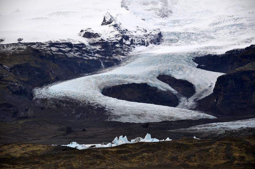Fjallsárlón na południu Islandii