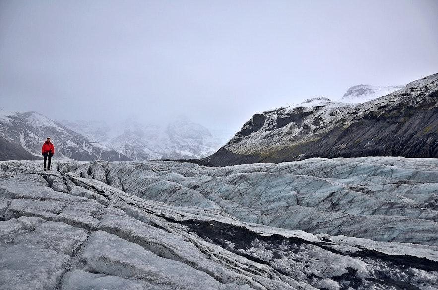 Svínafellsjökull in IJsland