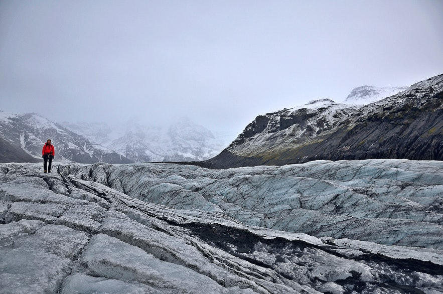 Lodowiec Svínafellsjökull na Islandii